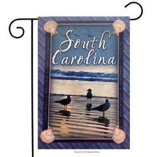 "South Carolina Beach Birds Garden Flag Seagull Ocean Shells Wave Coast 12.5""x18"""