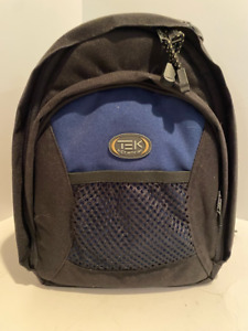 Tek By Tamrac Camera Bag Backpack Dividers Black Blue Padded Mesh Pocket