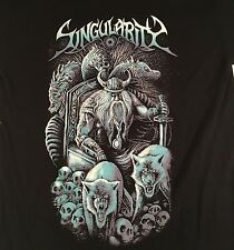 SINGULARITY band Viking T-SHIRT / Canada METAL / MEN'S MEDIUM black