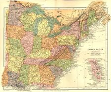 USA. United States (Eastern) ; Inset Florida. Stanford 1892 old antique map