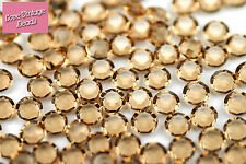 Rare! 10x swarovski light colorado topaz 1110 unfoiled canal de pierre SS29 6mm