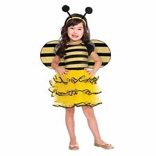 Childrens Kids Girls Bumble Bee Costume Dress Costume Wings Dress Headband