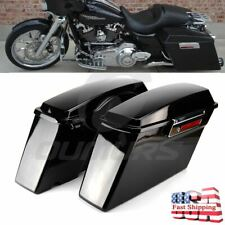 5 Stretched Extended Hard Saddlebags Trunk W/ Lid For Harley Flh Flt 1993-2013 Electra Road Glide Convenience Goods Automobiles & Motorcycles