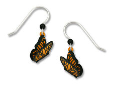 Monarch Butterfly Earrings - 925 Sterling Silver Earwire Butterflies Jewelry NEW