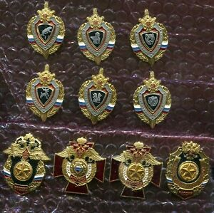 Russia Military MVD Police Interior Troops Incl Special Units 10 Screw Badges