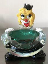 Murano Glass Clown Ashtray ?