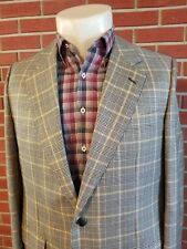 Solemare Maus & Hoffman 2-Button Mens Blazer 44L Made in Italy Silk Wool EUC