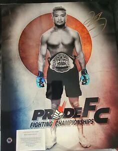 TAKANORI GOMI SIGNED  16X20 PHOTO  COA UFC PRIDE FC