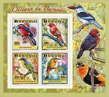 More details for burundi 2014 mnh birds of burundi 4v deluxe m/s oiseaux barbet finches bee-eater