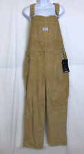 Levi's Premium Vintage Relaxed Corduroy Womens Overalls in Tan Size L NWT
