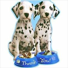 PUPPY PARTY THANK YOU NOTES (8) ~ Birthday Supplies Stationery Cards Dalmatians