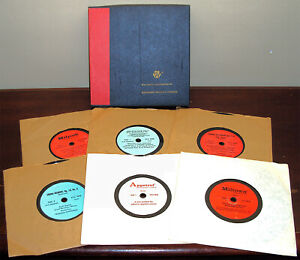"""Obscure Wallace Laboratories Recorded Medical Library Boxed Set of 7"""" Records"""