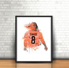 Edgar Davids - Netherlands Inspired Football Art Print Design Holland Number 8