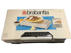 NEW BRABANTIA food warmer tea lights Flame Snuffer White Chrome 10 Year Guarante