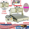 4 Axis 6090 CNC Router USB Metal Engraver Milling Machine 3D 1.5KW VFD+Handwheel