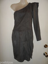 bebe Kardashians S Dress One Shoulder Charcoal Gray Wedding Club Party Rare Sexy