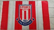 Stoke City The Potters England 3'x5' Feet Soccer Team FLAG Banner Futbol