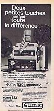 PUBLICITE ADVERTISING 114 1977 EUMIG projecteur de films