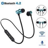 Bluetooth 4.2 Magnetic Stereo Earphone Headset Wireless In-Ear Earbuds Headphone