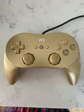 Official Nintendo Wii Classic Pro Controller Gold