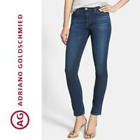 $220 AG Adriano Goldschmied PRIMA Mid Rise Cigarette Skinny Jeans Size 28 * 7122