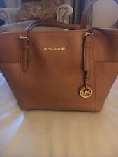 Michael Kors Jet Set Top Zip  Med Tote Saffiano Leather!