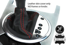 RED STITCH TOP GRAIN LEATHER AUTO AUTOMATIC GEAR BOOT FOR AUDI TT MK2 07-14