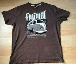 ANIMAL - T-shirt - VW Camper Van - Surfer / Surfing / Camper Brown Size L