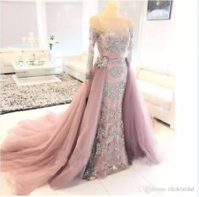 New Mermaid Formal Evening Dress Lace Appliques Celebrity Pageant Prom Gown