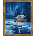 Paintworks® Moonlit Cabin Kit & Frame Paint-by-Number Kit