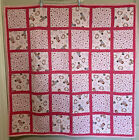 "RAGGEDY ANN & ANDY Handmade Baby Quilt Crib Blanket 41""x42"" Pink"