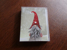 Gnome Elf Tomte Nisse Tonttu Note Cards Box of 12 with White Envelopes