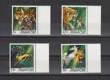 TIMBRE STAMP 4 SINGAPOUR Y&T#201-04 TIGRE PANTHERE LION NEUF**/MNH-MINT 1973~A81