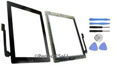 New Touch Screen Glass Digitizer Replacement + Adhesive for iPad 3 + Tools Black