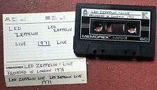 LED ZEPPELIN London 1971 live cassette tape
