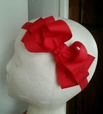 Christmas~Baby~Girl~Toddler~Red~Boutique~Hair~Bow~FOE~Headband