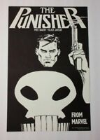 "Vintage original 1987 Punisher 17 by 11"" Marvel comic book promo poster 1:1980's"