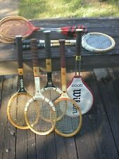 Lot of 11 Vintage Wooden Tennis Rackets Racquets