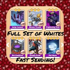 Coin Master Full Baba Yaga Set (All 6 Whites) Creaky Crow Fred Etc..(Fast Send)