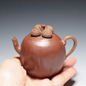 OldZiSha-Rare China Yixing Zisha Small 160cc Old Teapot By Master Chen MingYuan