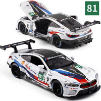 BMW M8 GTE 1:32 Scale Metal Diecast Model Car Vehicle Toys Sound&Light Pull Back