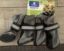 Top Paw Footwear Booties for Dogs Reflective Gray Lined Dog Boots XS