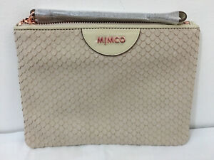 Mimco Classico Medium BNWT Leather pouch Dust Bag RRP$129 Birch Free postage