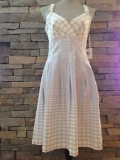 NWT Calvin Klein - Marilyn Monroe - Retro Dress - Blue - White Dots - Size 10