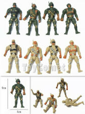 8 pcs Military Green Tan Action Figures Plastic Toy Soldiers Army Men