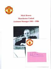 MICK BROWN MANCHESTER UNITED ASST MANAGER 1981-1986 ORIGINAL HAND SIGNED CUTTING