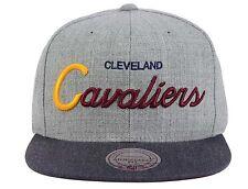Cleveland Cavaliers Mitchell & Ness Tri Pop Script Red Gray Snapback Hat Cap NBA