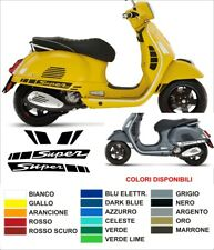 Kit Adesivi Stickers Vespa GTS 300 250 125 Super Sport Parafango laterali decals
