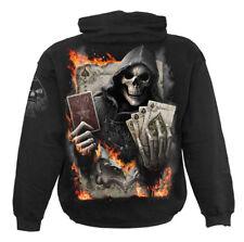 SPIRAL DIRECT ACE REAPER Mens Hoody/Cards/Reaper/Goth/Horror/Biker/Hood