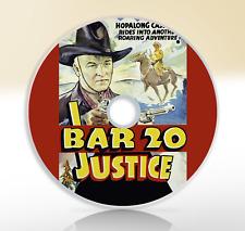 Bar 20 Justice (1938) DVD Classic Western Movie / Film William Boyd
